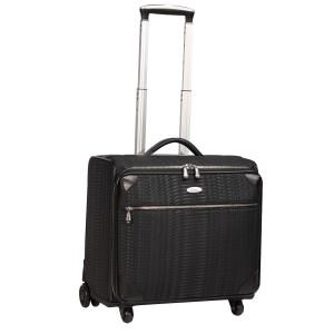 neu_Python Roller Luggage - Black-Black-Extended Handle Shot