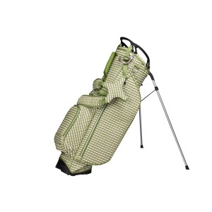 neu_2_Check Wave Stand Bag - White-Olive-Light Olive