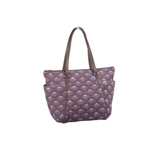 neu_Boat Wave Carryall - Dark Brown_Violet_Silver