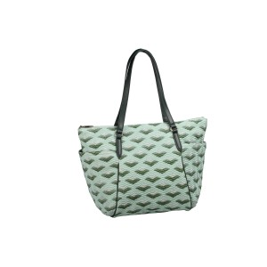 neu_Boat Wave Carryall - Light Green_Dark Green_Silver