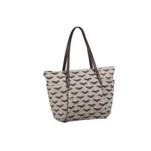 neu_Boat Wave Carryall - Light Khaki_Black_Silver