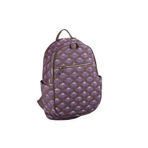 neu_Boat Wave Ladies Backpack - Dark Brown_Violet_Silver