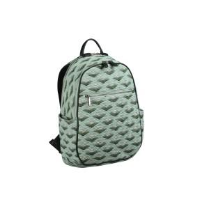 neu_Boat Wave Ladies Backpack - Light Green_Dark Green_Silver