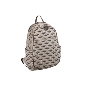 neu_Boat Wave Ladies Backpack - Light Khaki_Black_Silver