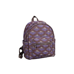 neu_Boat Wave Mini Backpack - Dark Brown_Violet_Sliver