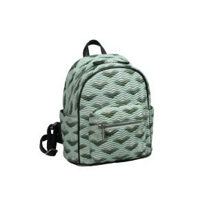 neu_Boat Wave Mini Backpack - Light Green_Dark Green_Silver