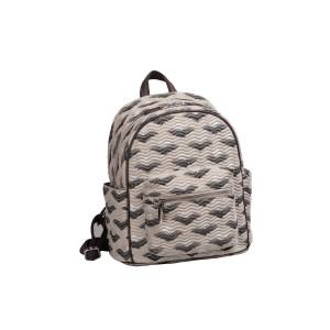 neu_Boat Wave Mini Backpack - Light Khaki_Black_Silver