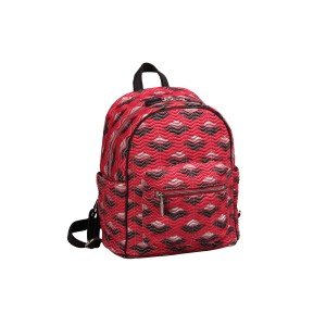 neu_Boat Wave Mini Backpack - Red_Black_Silver