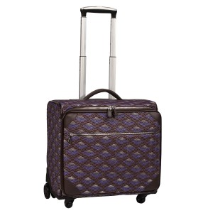 neu_Boat Wave Roller Luggage - Dark Brown_Violet_Silver