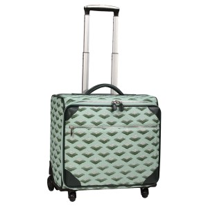 neu_Boat Wave Roller Luggage - Light Green_Dark Green_Silver