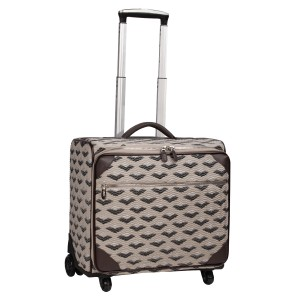 neu_Boat Wave Roller Luggage - Light Khaki_Black_Silver