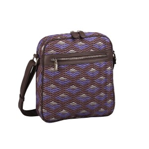 neu_Boat Wave Tablet Bag - Dark Brown_Violet_Silver