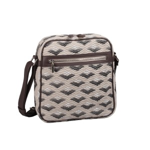 neu_Boat Wave Tablet Bag - LIght Khaki_Black_Silver
