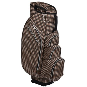 neu_Check Wave 14 Way Cart Bag - Khaki-Black-Brown