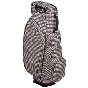 neu_Check Wave 14 Way Cart Bag - White-Brown-Light Brown