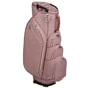 neu_Check Wave 14 Way Cart Bag - White-Dark Brown-Pink