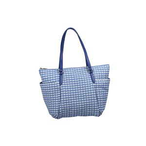 neu_Check Wave Carryall - White_Violet_Light Violet