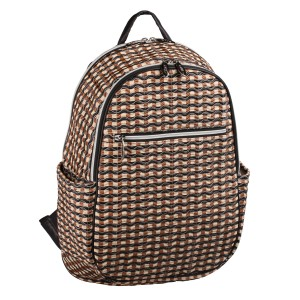 neu_Check Wave Ladies Backpack - Khaki_Black_Brown
