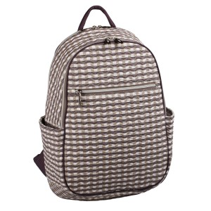 neu_Check Wave Ladies Backpack - White_Brown_Light Brown