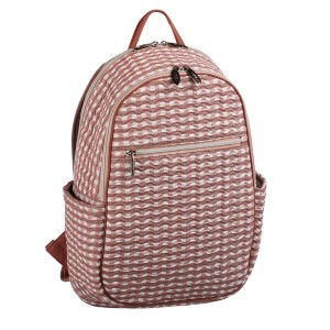 neu_Check Wave Ladies Backpack - White_Dark Brown_Pink