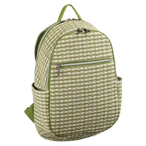 neu_Check Wave Ladies Backpack - White_Olive_Light Olive