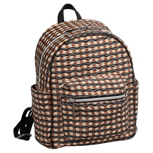 neu_Check Wave Mini Backpack - Khaki_Black_Brown