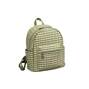 neu_Check Wave Mini Backpack - White_Olive_Light Olive