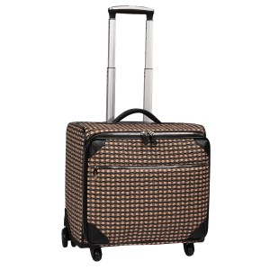 neu_Check Wave Roller Luggage - Khaki_Black_Brown