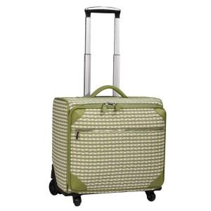 neu_Check Wave Roller Luggage - White_Olive_Light Olive