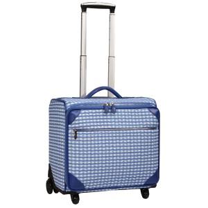 neu_Check Wave Roller Luggage - White_Violet_Light Violet