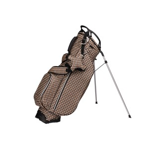 neu_Check Wave Stand Bag - Khaki-Black-Brown