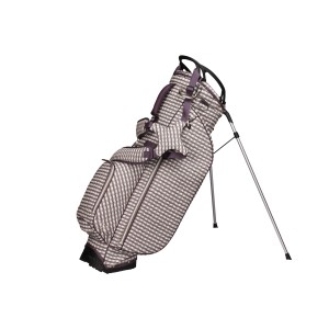 neu_Check Wave Stand Bag - White-Brown-Light Brown