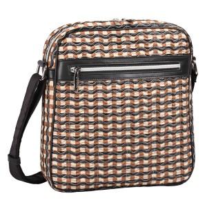 neu_Check Wave Tablet Bag - Khaki_Black_Brown