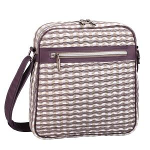 neu_Check Wave Tablet Bag - White_Brown_Light Brown