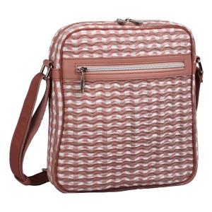 neu_Check Wave Tablet Bag - White_Dark Brown_Pink