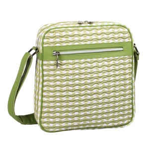 neu_Check Wave Tablet Bag - White_Olive_Light Olive