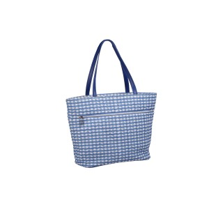 neu_Check Wave Tote - White-Violet-Light Violet