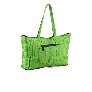 neu_Foldable Shopping Bag - Apple Green-Black-Green