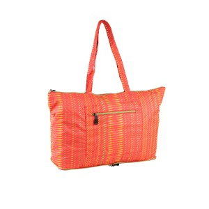 neu_Foldable Shopping Bag - Red-Apple Green-Yellow