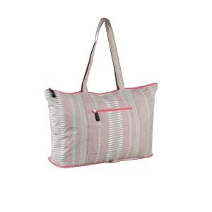 neu_Foldable Shopping Bag - Warm Gray-White-Pink
