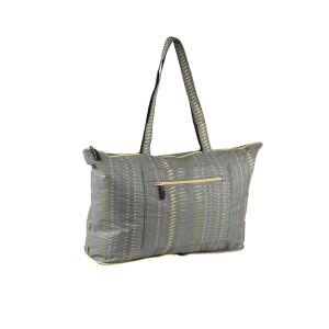 neu_Folding Shopping Bag - Dark Gray-Yellow-Olive