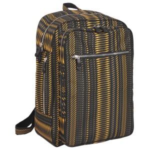 neu_Python Backpack - Black-Brown-Yellow