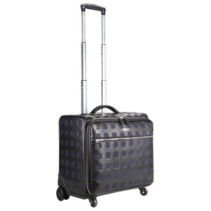 neu_Sterling Roller Luggage - Black-Extended Handle Shot