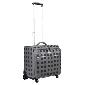 neu_Sterling Roller Luggage - Dark Gray-Extended Handle Shot