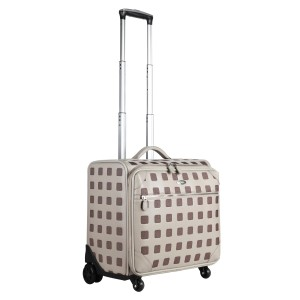 neu_Sterling Roller Luggage - Light Gray-Extended Handle Shot
