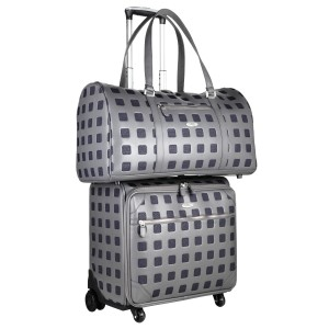 neu_Sterlling Roller Luggage-Boston Bag Combo Shot - Dark Gray